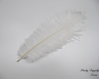 50  pcs white Ostrich Feather Plume for Wedding centerpieces,