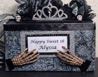 Wedding Card BoxHalloween WeddingHalloween Invitationhalloween Cake Topper