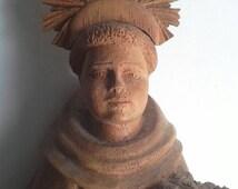 Brazilian Hand Carved Saint