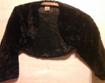 Vintage faux fur shrug. Capelet. 90s.