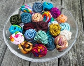 Rose Lapel Men - PICK 2, 3 or 4 - Rose Suit Pin -  Men Lapel Flower - Groomsman Gifts -Rolled Lapel Flower-Custom Rolled Fabric Lapel Flower