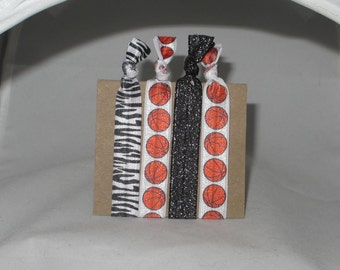 Set of 4 BASKETBALL hair ties