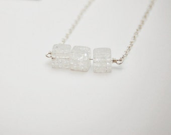 LISHA Triple Quartz Necklace