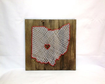 Ohio Any State String Art Wall Art Ohio Home Decor