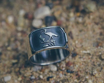"Silver handmade ring ""Thoth"""