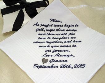 Personalized Wedding Hankerchief, Wedding Handkerchief, Embroidered Wedding Hankerchief, Personalized, Custom, By: MemoriesMadeApparel