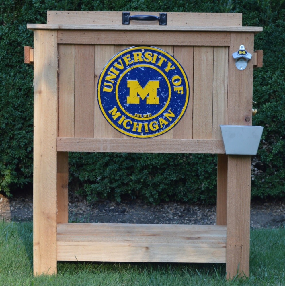 best seller rustic ice chest cooler stand with brass drain