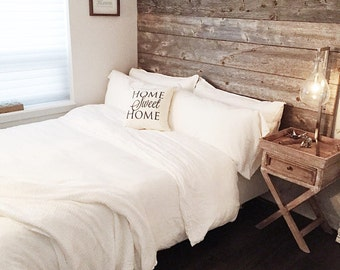 Reclaimed Wood Bed Headboard DIY Installation   Made From Reclaimed Wood  King And Queen Sizes Available
