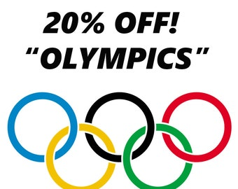 """20% Off Your Entire Order! Use The Coupon Code """"OLYMPICS"""""""