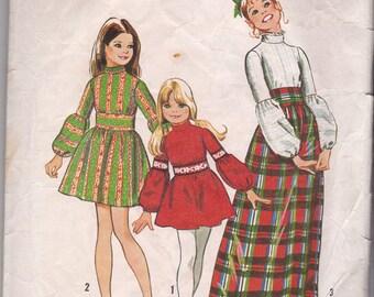 Simplicity 1970s Girls Dress Pattern 5169 Size 4
