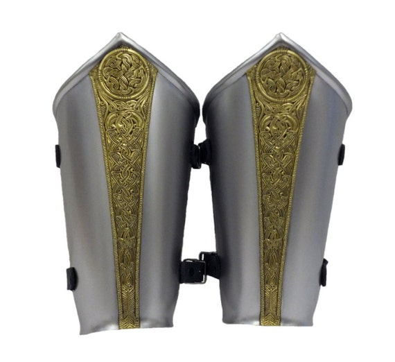 Larp Armor, Fantasy Celtic Knot Sovereign arm armor bracers. Cosplay armor, elven armor, high elf, celtic knot
