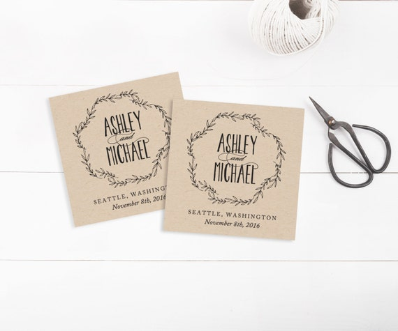 Printable Wedding Tags template, Favor Tags, Invitation Tags, Editable ...
