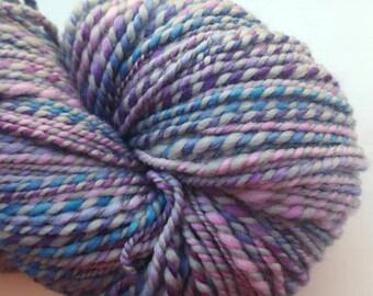 Handspun, hand dyed merino yarn