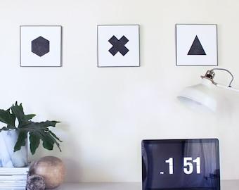 Geometric Shapes Print Set
