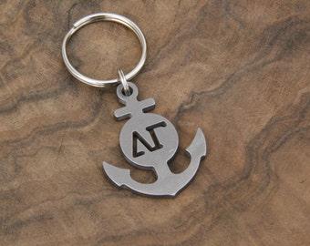 Delta Gamma Keychain, Anchor Keychain, Stainless Steel Keychain, Sorority, Gift Idea, Anchor, Delta Gamma, Keychain
