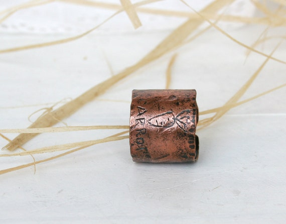 Hand Forged Copper  Ring - Womens ring -  Copper Ring - Rustic Texture Ring - Wide Copper Ring - Patina Jewelry - 6.5 Size RIng