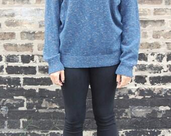 Blue Vintage Grandpa Sweater