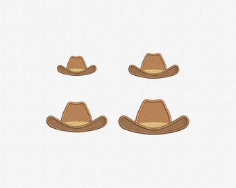 Cowboy Hat Machine Embroidery Design - 4 Sizes