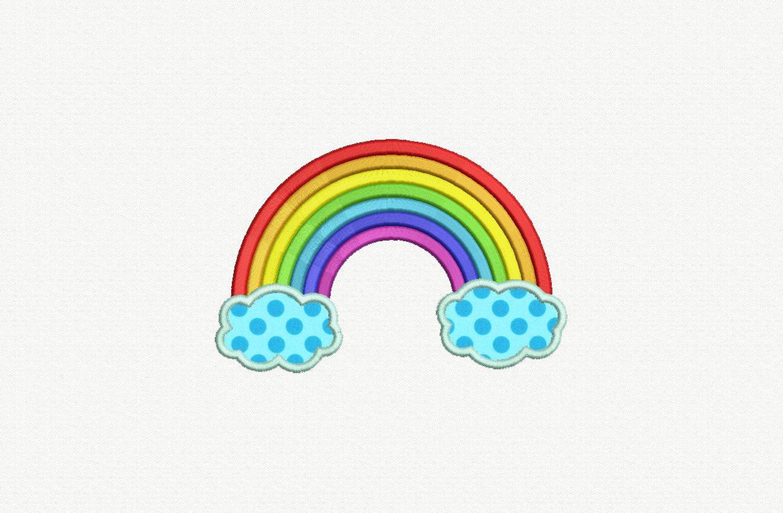 Rainbow applique machine embroidery design sizes