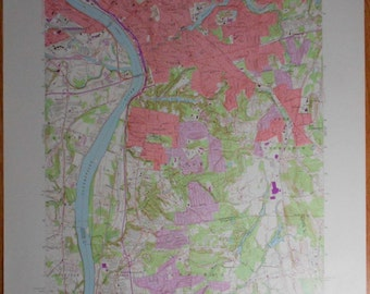 1972 Springfield Longmeadow Agawam Enfield Connecticut River Massachusetts Ma Map Large