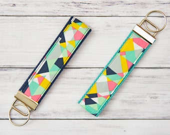 Wristlet Keychain **FREE SHIPPING**- Keychain- Keyfob- Cloth Keychain- Girly Keychain- Teacher Appreciation- Keychain Wristlet- Key Chain
