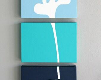 3 Piece Whale Canvas | Three Piece Nautical Nursery Canvas