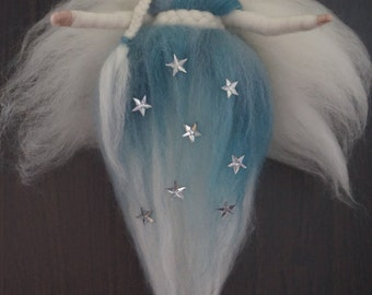 Elf Winter Star, wool, Waldorf, winter, fairies, Elves