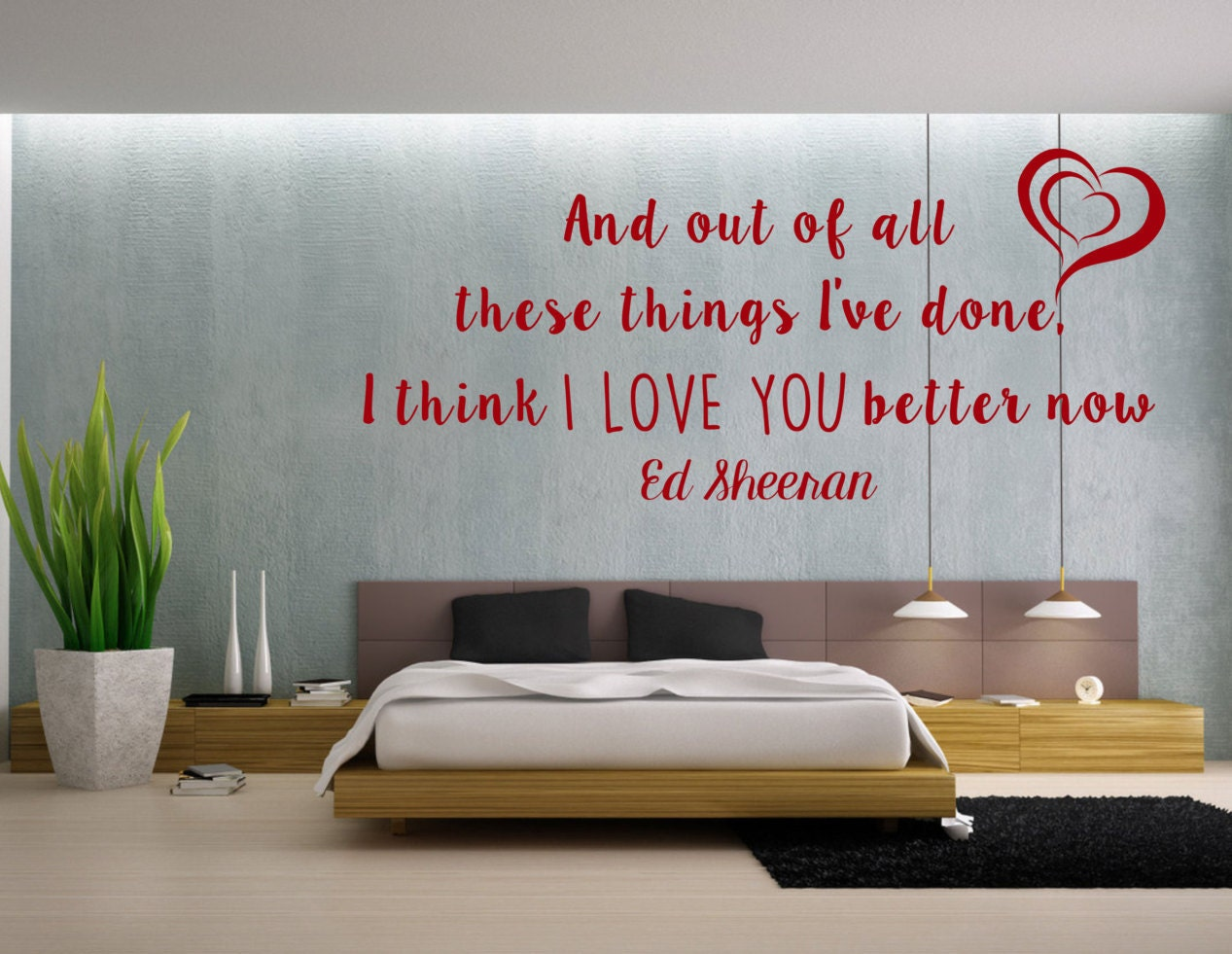 Lego House Inspired Song Lyrics Ed Sheeran Wall Art Vinyl