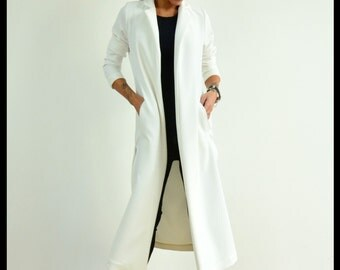 Plus size trench top, Casual Loose Trench, Maxi Open Overall, Extravagant Jacket, Maxi Loose Coat, Casual Trench, Asymmetric Coat