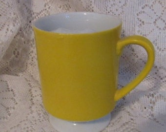 Mustard Yellow Moustache Cup