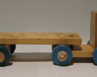Vintage children's wooden machine. USSR, 1960-1970