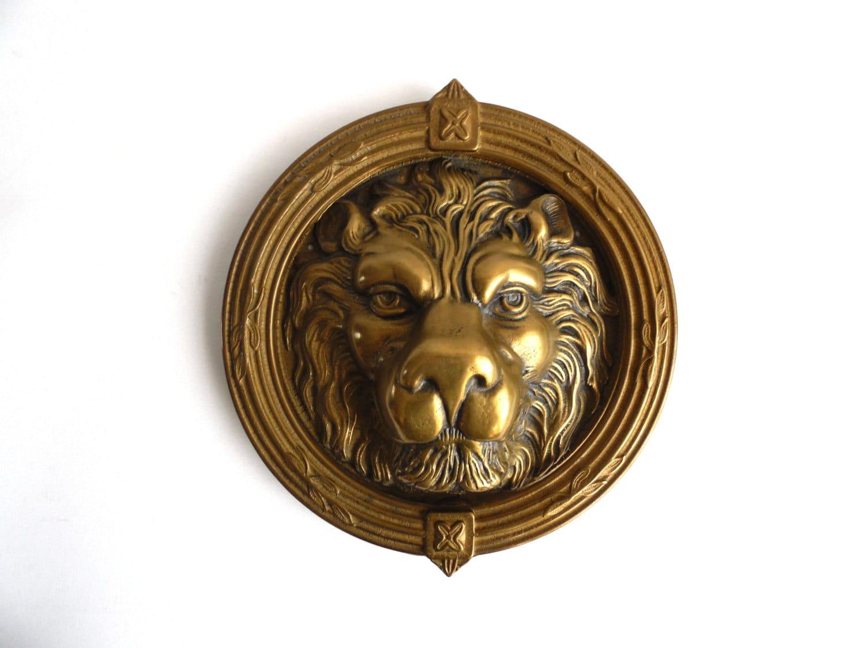 Door knocker lion antique lion door knocker extremely - Antique brass lion head door knocker ...
