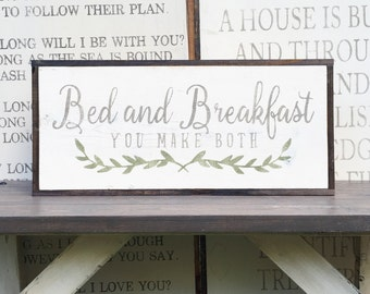 Items similar to bed and breakfast you make both sign wood for A host and hostess for the bed breakfast
