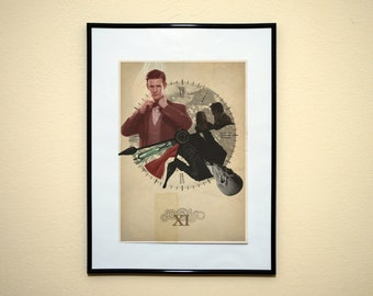 Eleventh Doctor Who Print. 'New Who' poster. Matt Smith.