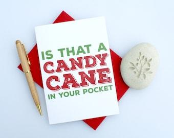 Naughty Christmas Card Funny Christmas Card Sexy Christmas
