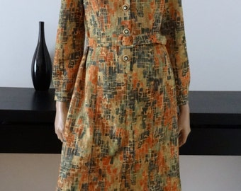 Robe vintage 70's kitsch taille 38 - uk 10 - us 6