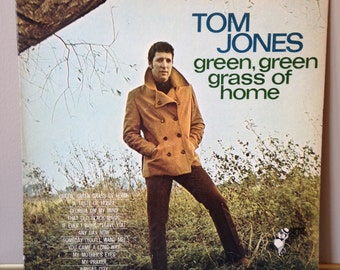Tom Jones Green green grass of home LP vintage record rock pop music 1960s 60s sixties British invasion mid century modern