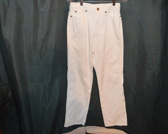 Vintage White Denim Jeans