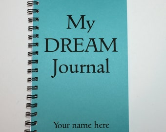 Dream Journal, Dreamer, Journal, Dream Notebook, Quirky Gift, Writing Journal, Notebook, Diary, Personalized, Sleep Journal, Custom Gift