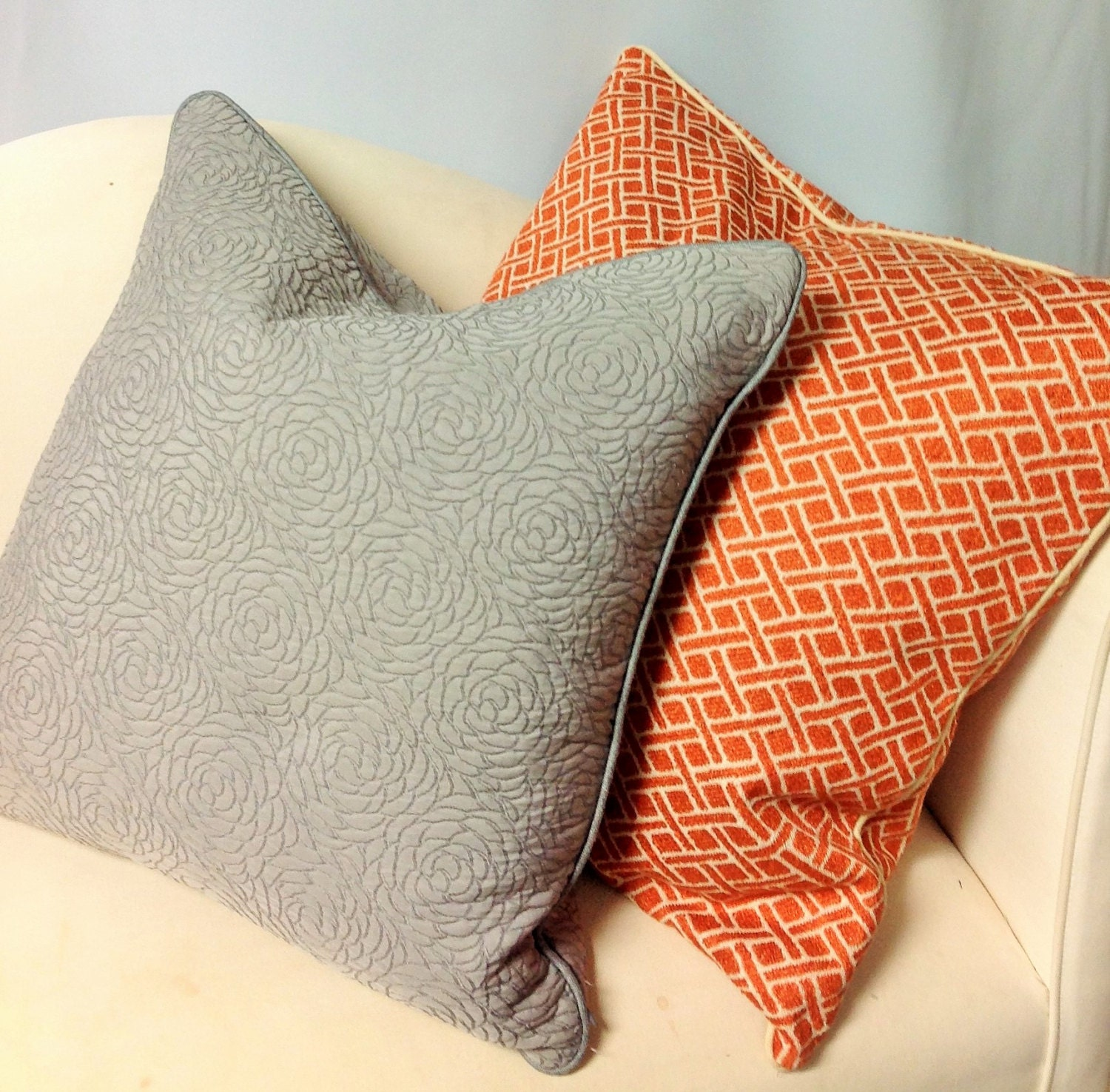 Decorative Pillows WITH Cording Invisible Zipper Down