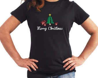 Merry Christmas Gifts and Tree Women T-Shirt
