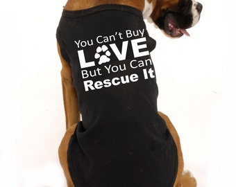 Rescue dog, dog rescue, animal rescue, adoption shirt, adoption gifts, Dog clothes Doggie tee Pet shirts pet gifts pet accessories