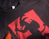 """Krampus T-shirt - original """"Gruss vom Krampus"""" design by James Mundie"""