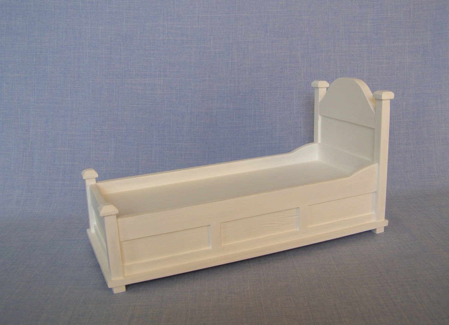 Single Bed For 12 Inch Doll Dolls/ 1:6 Scale Bed/ White Modern
