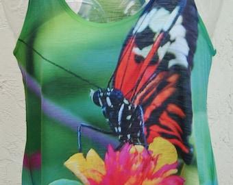 Butterfly Shirt Hi Lo