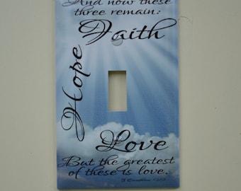 Faith Hope Love Switch Cover