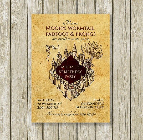 35 Harry Potter Party Invitation Template unitedarmyinfo