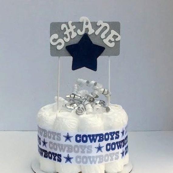 dallas cowboys theme unique baby boy diaper cakes baby shower gift