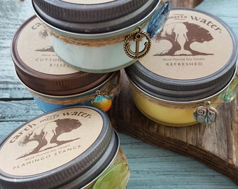 Hand Poured Soy Mini Candles-4 oz Mason Jar Candles- Custom Baby Shower Candles- Custom Bridal Shower Candles