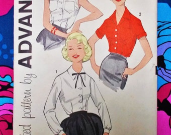 "Advance Sewing Pattern - c 1960 -  Woman's tailored blouse  - size 16  bust 36"" - mpn 9274 - unused"